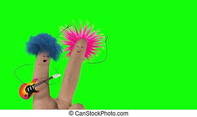 song., poilu, amour, isolate., punk, valentines, joke., cheveux, doigt, chanter, jour, homme
