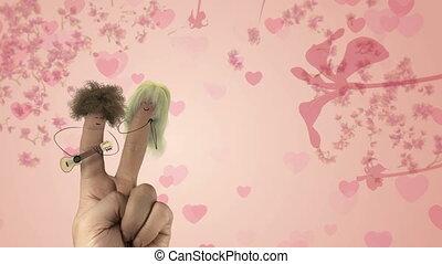 song., poilu, amour, valentines, joke., cheveux, doigt, chanter, jour, homme