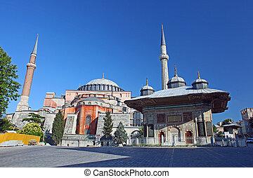 sophia, hagia, istanbul, turquie