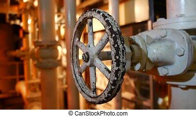 sophistiqué, construction, ingénierie, mechanism., métal