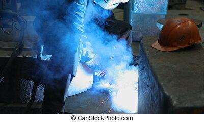 soudeur, metalwork, soudure, usine