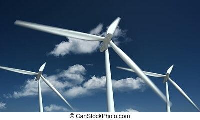 source., ferme, -, énergie, turbines, alternative, vent