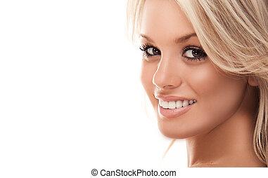 sourire, blond
