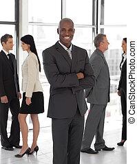 sourire, ethnique, business, éditorial