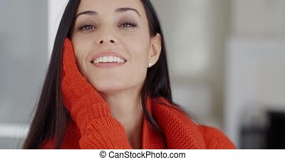 sourire, femme, joli, magnifique, jeune