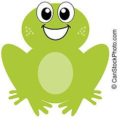 sourire, grenouille verte