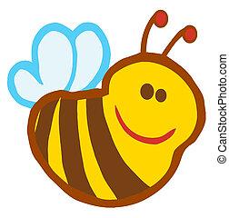 sourire, mignon, abeille