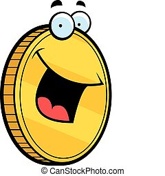 sourire, monnaie, or