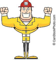 sourire, pompier, dessin animé