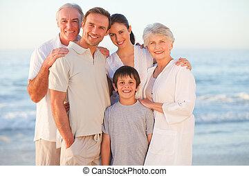 sourire, portrait famille