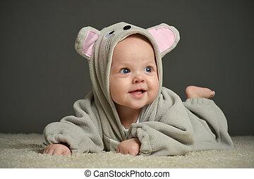 souris, bébé, déguisement