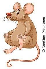 souris, peu, fourrure, brun