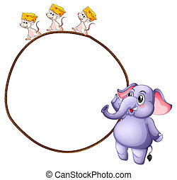 souris, trois, éléphant