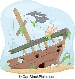 sous-marin, naufrage