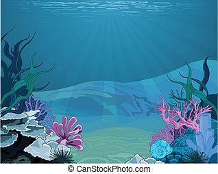 sous-marin, paysage
