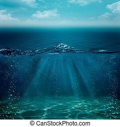 sous-marin, résumé, arrière-plans, ton, conception