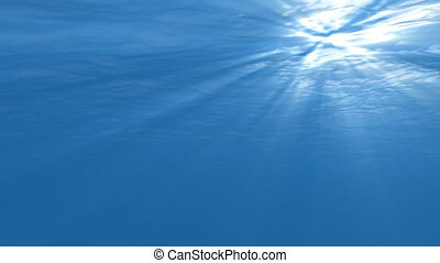 sous-marin, scène, boucle, seamless