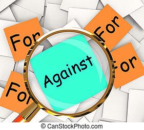 soutenir, poteau-il, contre, opposé, papiers, ou, spectacles