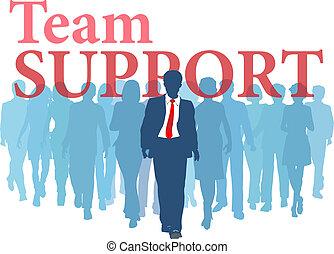 soutien, équipe, sauvegarde, professionnels