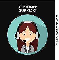 soutien, client