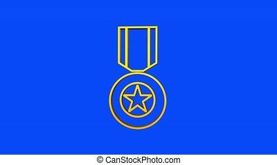 soviétique, héros, award., graphics., mouvement, étoile, union, or
