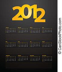 spécial, 2012, calendrier, conception