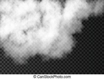 spécial, transparent, isolé, effet, blanc, brouillard, arrière-plan.
