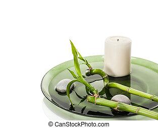 spa, bambou, concept