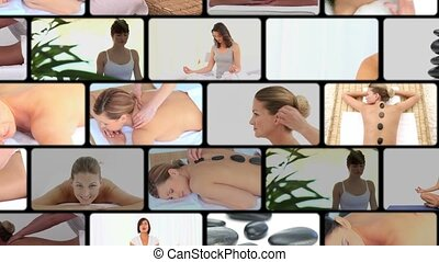 spa, femmes, montage