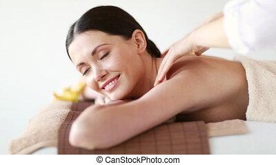 spa, salon, femme relâche, heureux