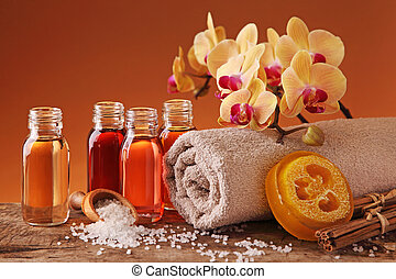 spa, vie, encore, huiles essentielles