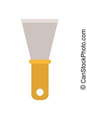 spatule, outillage, isolé, icône