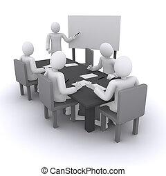 spectacles, présentation, réunion, homme affaires