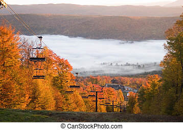 spectaculaire, paysage, automne