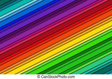 spectre, modèle, coloré, fond, résumé, rayé, vecteur, clair, fond, illustration, oblique, lignes, couleur, moderne