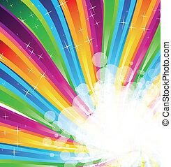 spectre, résumé, arc-en-ciel, fond, brochure