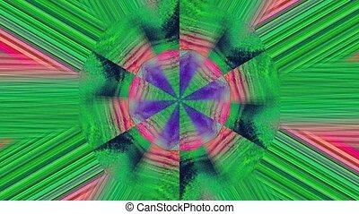 spellbinding, holographic, cristal, arrière-plan., réflexions, kaléidoscope