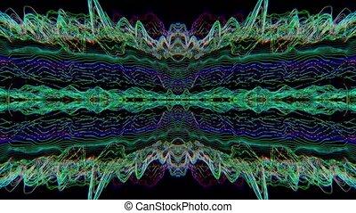 spellbinding, lumière fuit, arrière-plan., iridescent, déformé