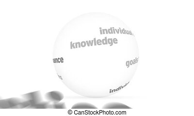 sphère, formation, mot, 3d