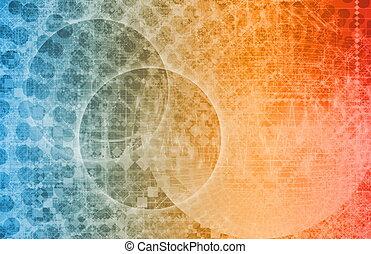 sphère, global, technologie, mondiale, média