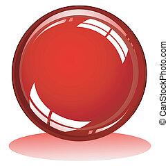 sphère, lustré, rouges