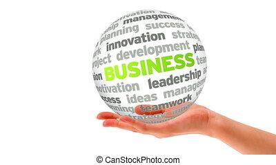sphère, mot, business