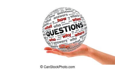 sphère, mot, questions
