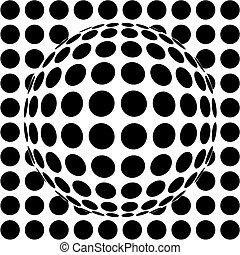 sphère, op-art