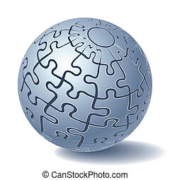 sphère, puzzle, puzzle