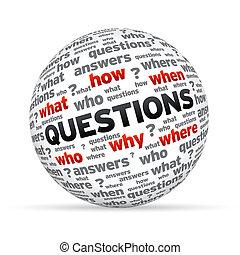 sphère, questions
