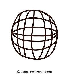 sphère, réseau global