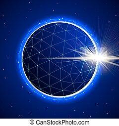 sphère, résumé, éclipse, espace