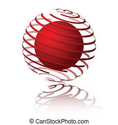 sphère, spirale