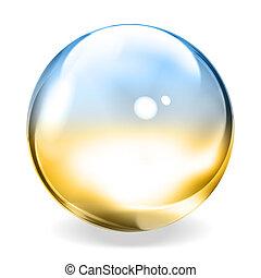 sphère, transparent